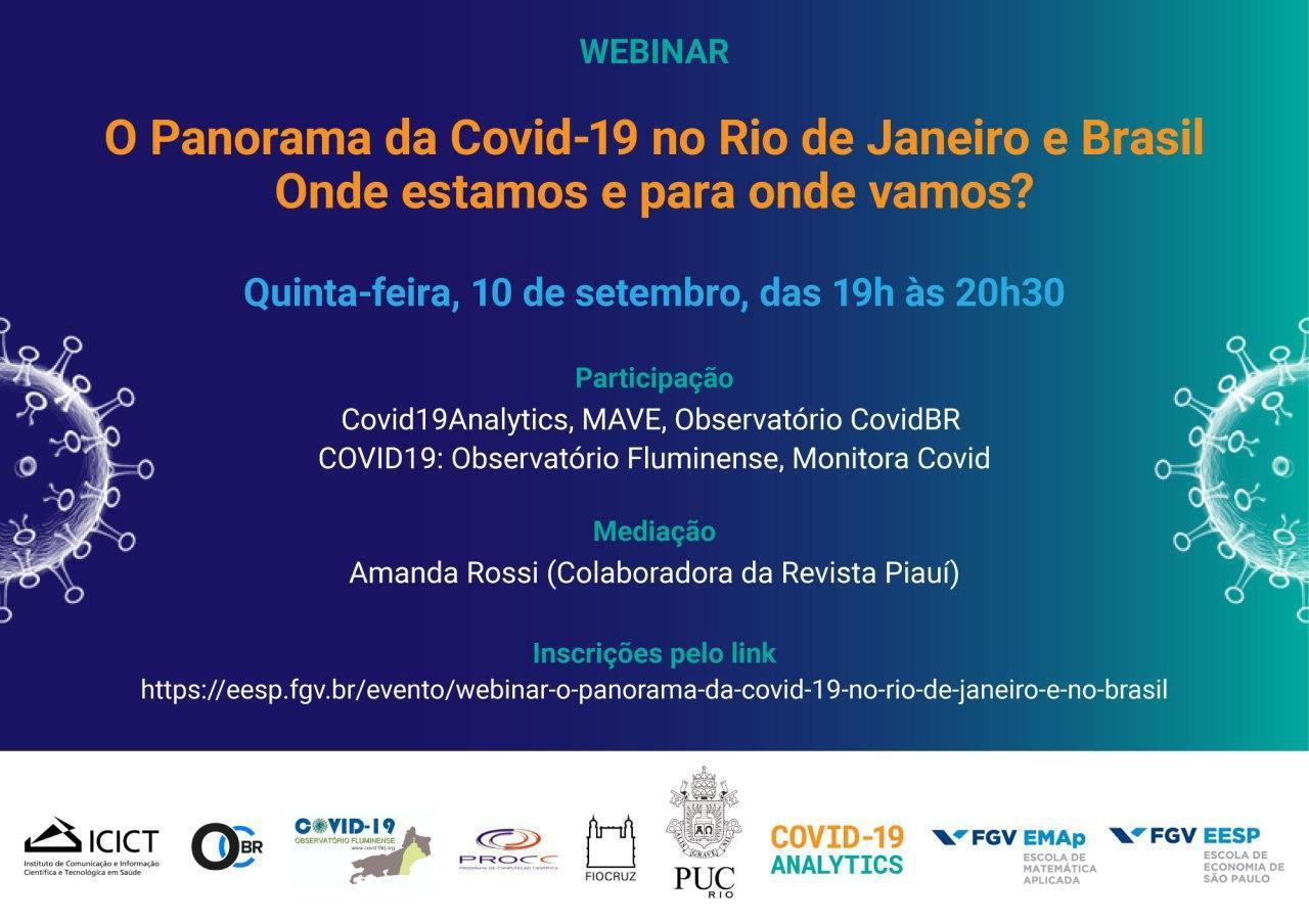 Webinar – O Panorama da Covid-19 no Rio de Janeiro e Brasil. Onde estamos e para onde vamos?